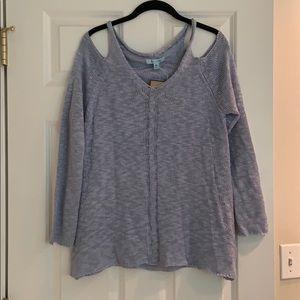 NWTBaby blue size medium sweater.